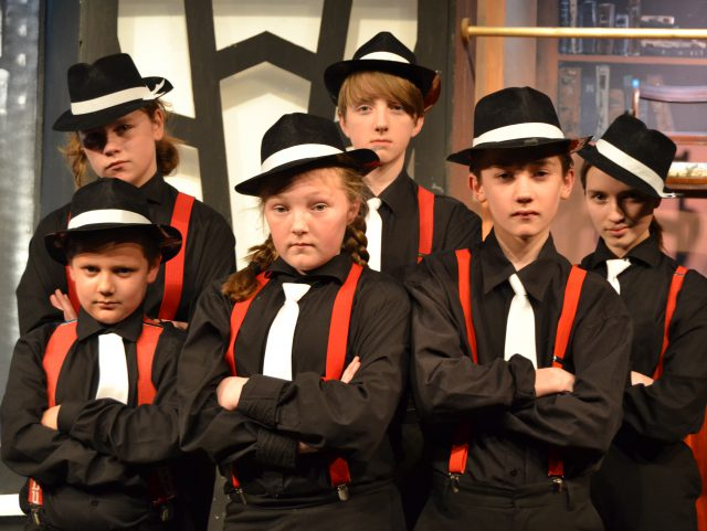 Junior gangsters from the Bugsy Malone youth show