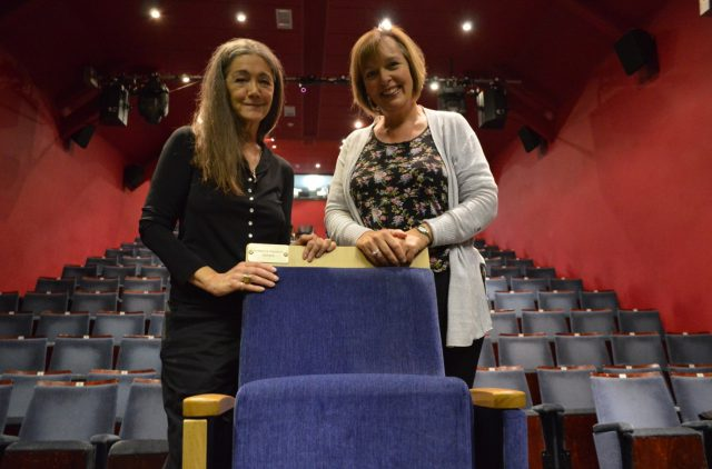 Theatre trustee Anwen Lady Hurt and director Debbie Thompson launch the Buy a Seat appeal