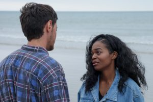 Elliot Langridge and Lauren Cato play the man characters in After The Sea, filmed at Sheringham.