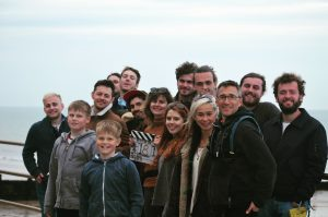 The team filming After The Sea at Sheringham